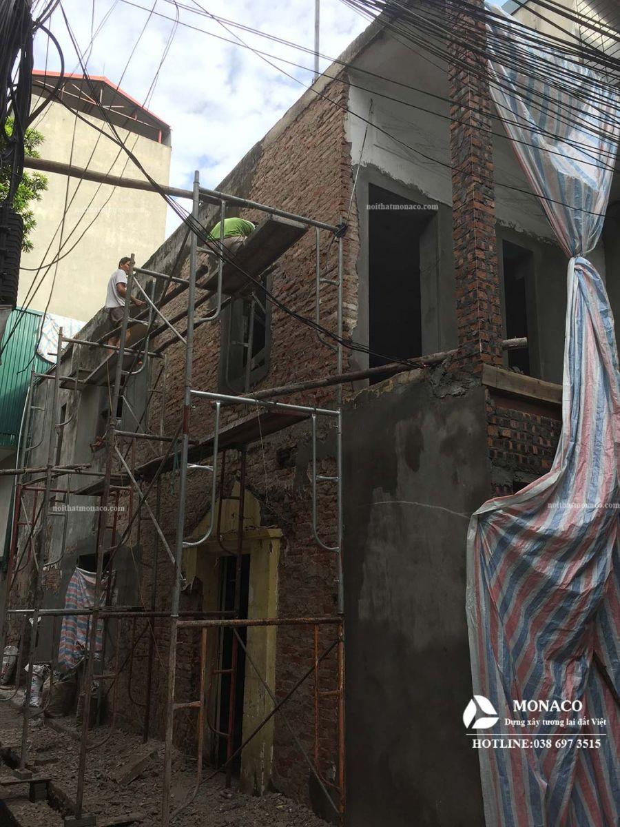 Cải tạo nhà phố xuống cấp tại Đống Đa Hà Nội
