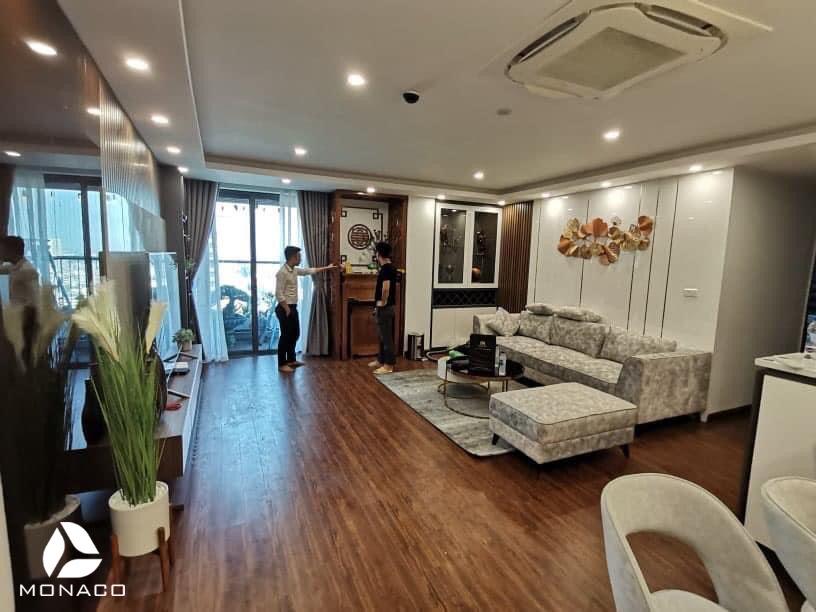 Thi công  nội thất chung cư Hinode 93m2 2 phòng ngủ