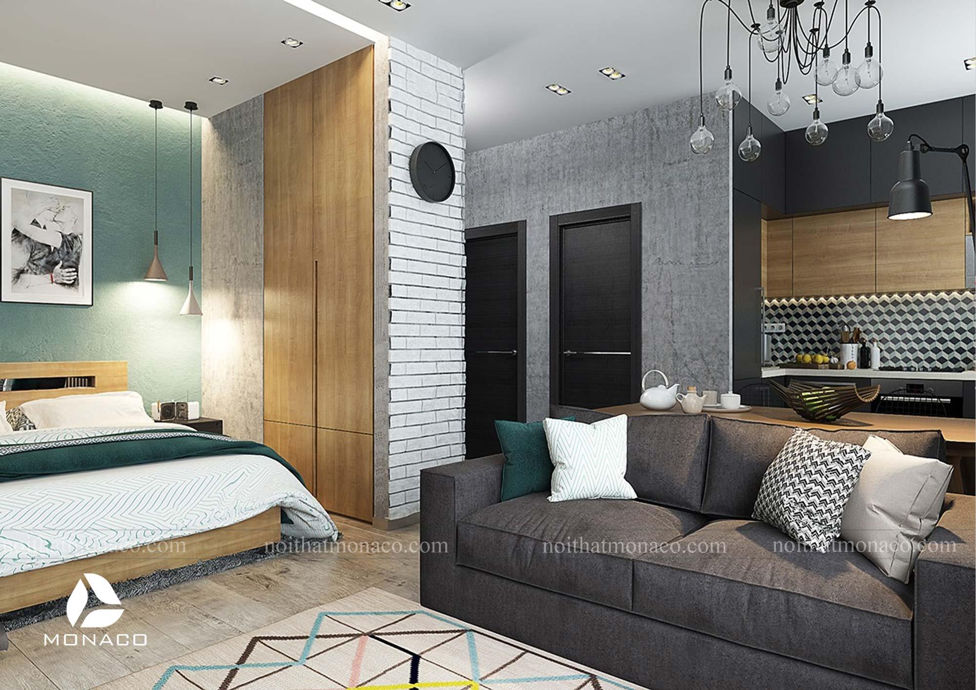 Thiết kế căn hộ Vinhomes Smart City 50m2 phong cách hiện đại- anh Mạnh
