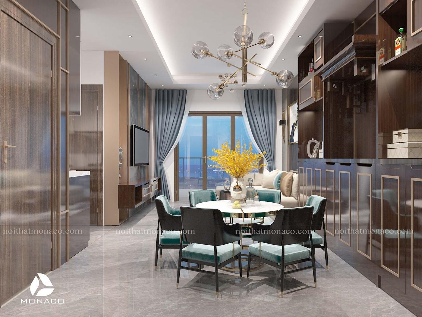 Thiết kế nội thất chung cư Rose Town 79 Ngọc Hồi - Anh Hòa