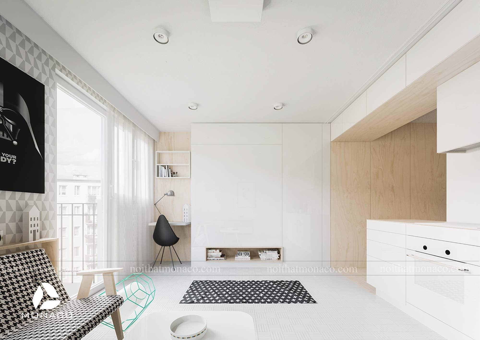 Thiết kế nội thất chung cư Vinhomes Smart City thông minh