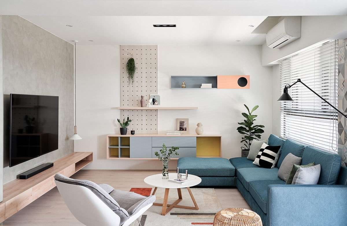 Thiết kế nội thất chung cư Vinhomes Westpoint màu hồng với màu xanh nhạt - anh Đại