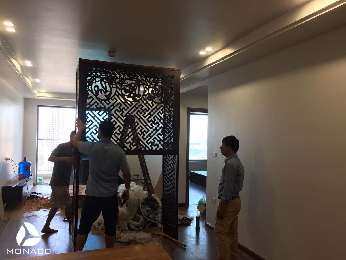 Thiết kế  thi công nội thất căn hộ 3 phòng ngủ chung cư sky central- Mr Hải