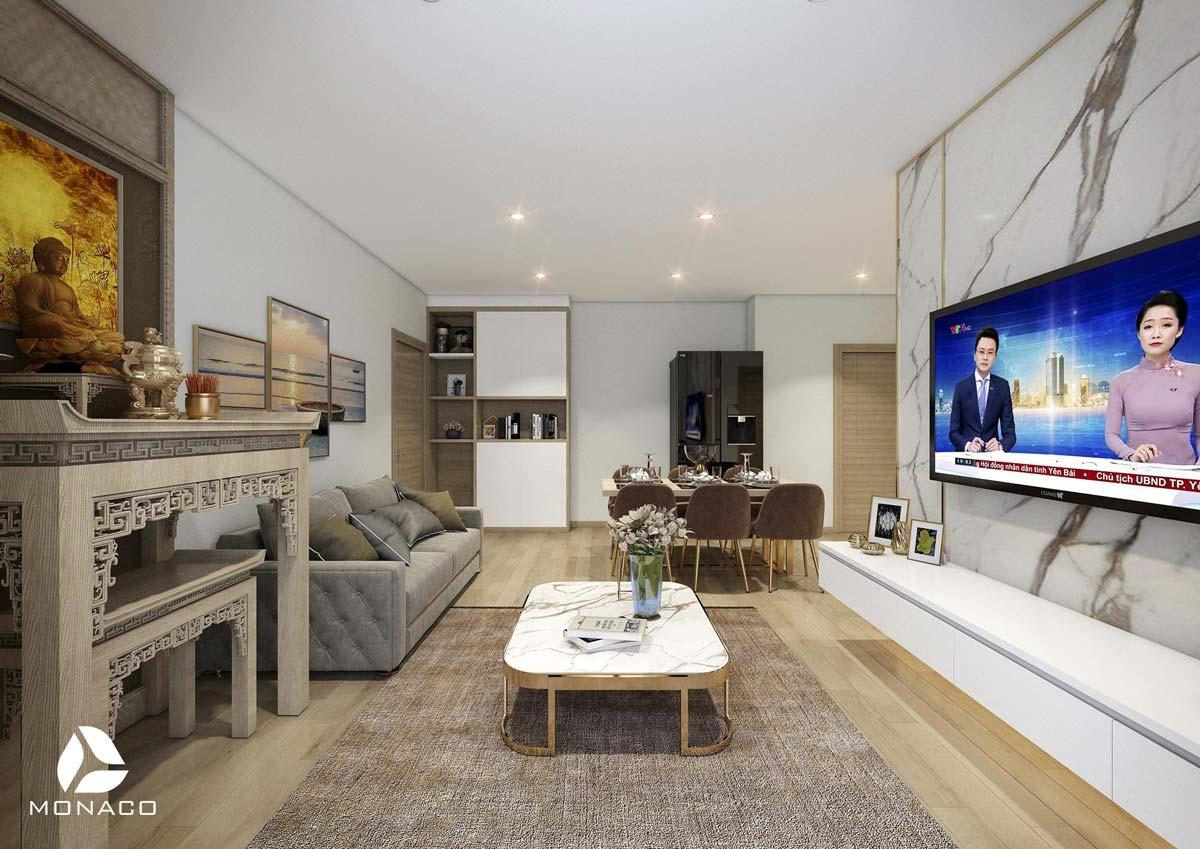 Thiết kế  thi công nội thất chung cư Hope Residence Phúc Đồng