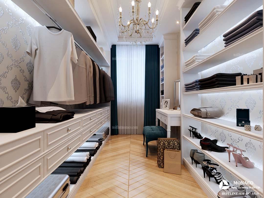 Ý tưởng thiết kế WALK IN CLOSET - phòng thay đồ nữ