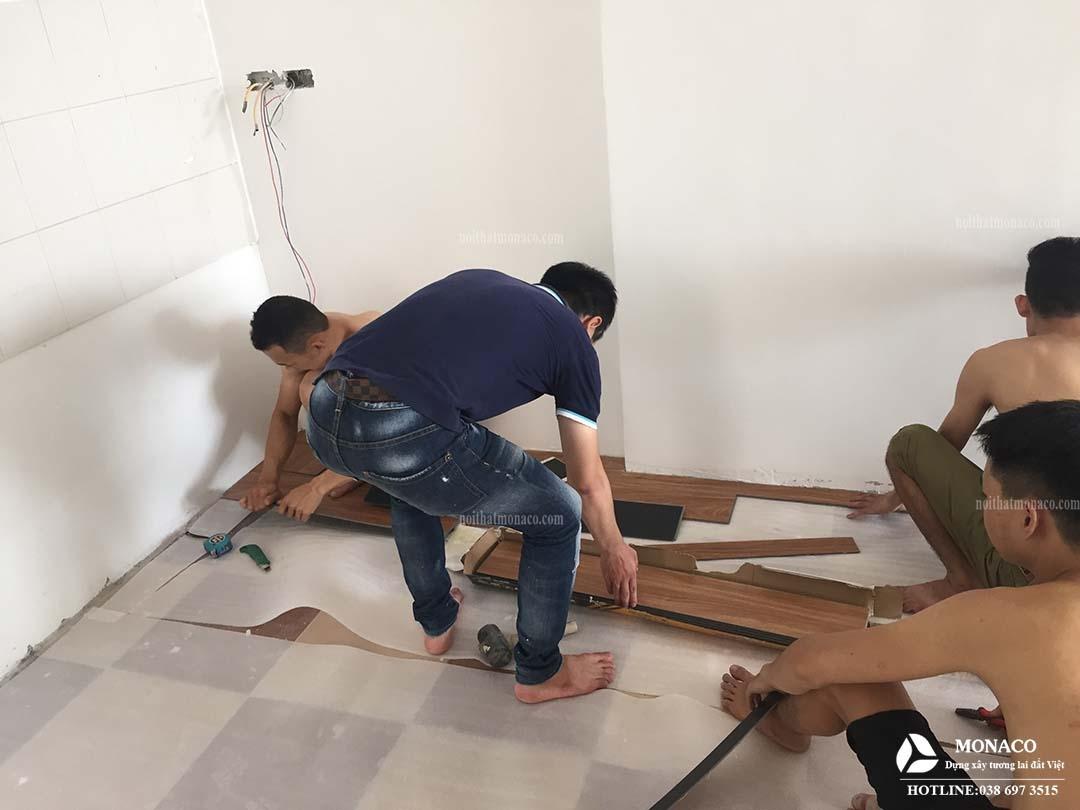 Thi công nội thất nhà anh Dũng Cổ Nhuế, Bắc Từ Liêm, Hà Nội