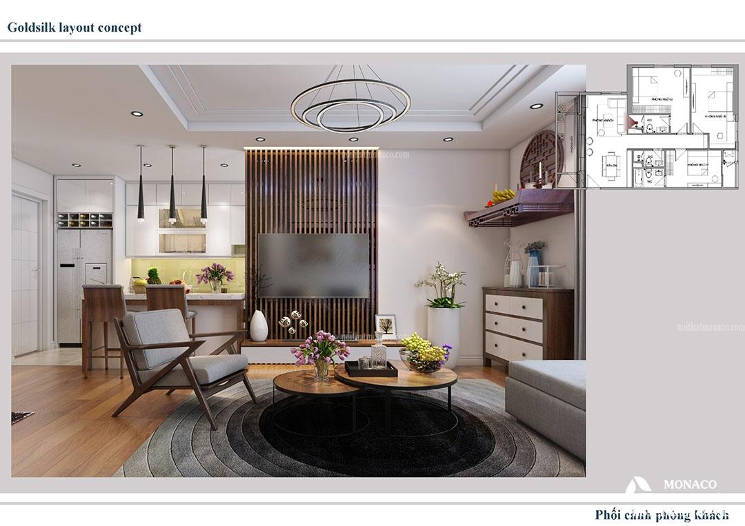 Thiết Kế căn hộ chung cư Goldsilk Complex, Vạn Phúc, Hà Đông