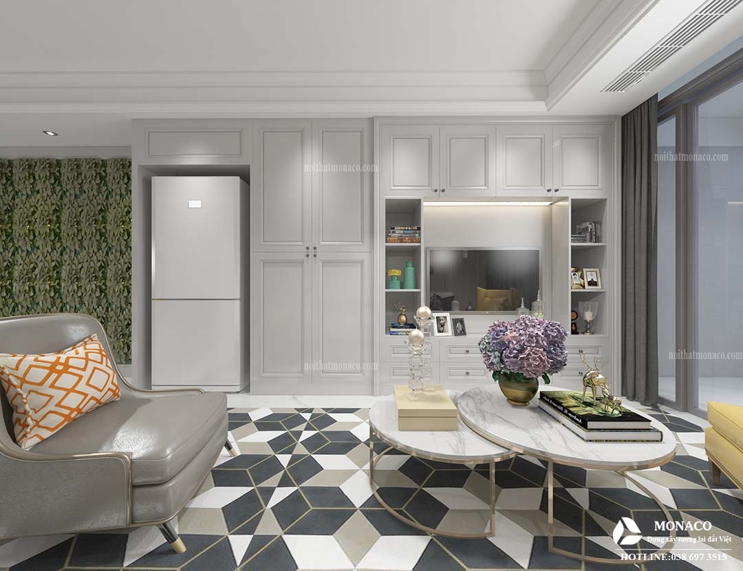 thiết kế căn hộ ECO LAKE VIEW phong cách tân cổ điển