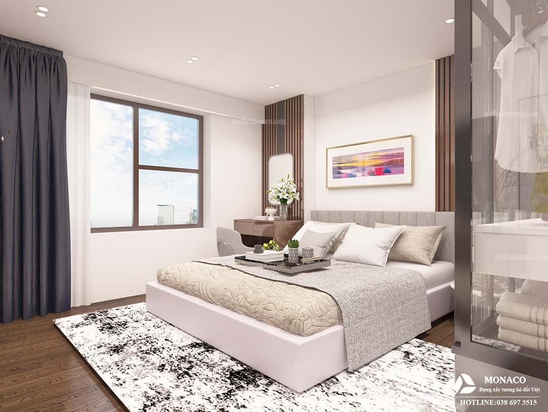 Thiết kế nội thất căn hộ 102m2 dự án Sky Central 176 Định Công