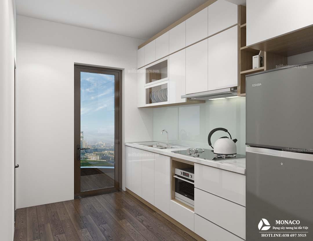 thiết kế nội thất căn hộ 40m2 tại Cầu Giấy- Chị Vân