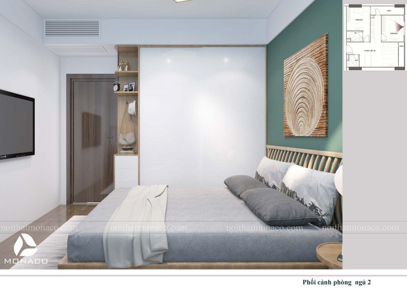 Thiết kế nội thất phòng ngủ nhỏ chung cư rose tower