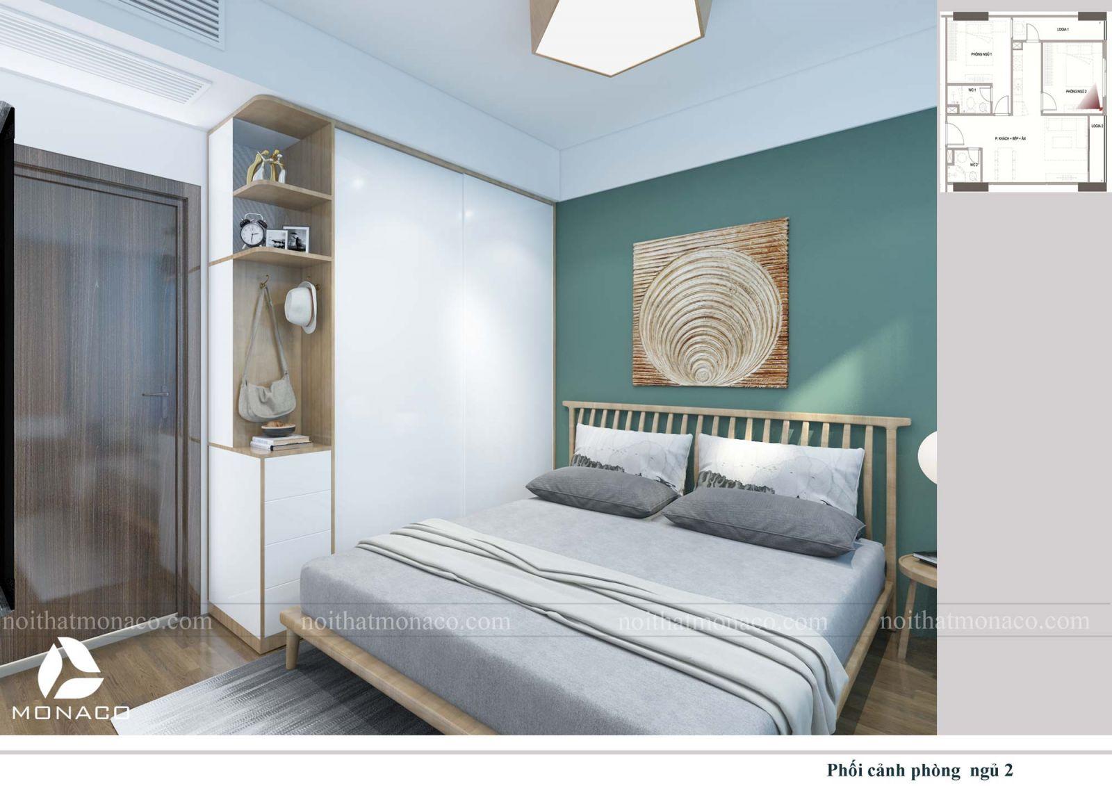 Thiết kế nội thất phòng ngủ nhỏ 3 chung cư rose tower