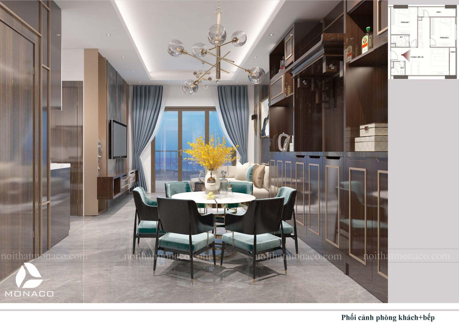 Thiết kế nội thất chung cư rose tower