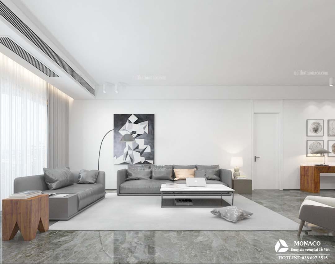 Thiết kế nội thất chung cư Sky Central Định Công phong cách hiện đại -Bác Linh