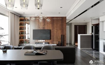 Chung cư cao cấp Mipec Riverside Long Biên, phong cách hiện đại kệt hợp chất liệu gỗ Công Nghiệp An Cường- chị Hương