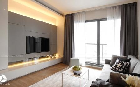 Thi công nội thất chung cư căn hộ 2 phòng ngủ tại dự án DCapitale
