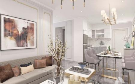 Thiết kế nội thất căn hộ 2 phòng ngủ Vinhomes Ocean Park -Anh Long
