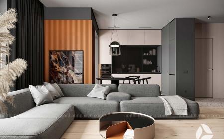 Thiết kế nội thất chung cư Bách Việt 70m2 2 phòng ngủ- Mr Thái