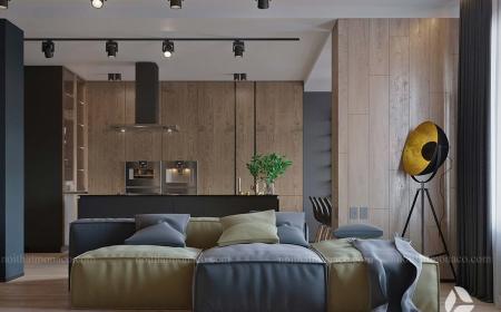 Thiết kế nội thất chung cư Vinhomes Green Bay 70m2 – Anh Tình