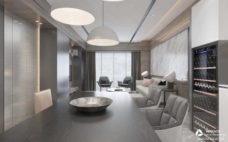 thiết kế nội thất hiện đại chung cư BEA SKY- Chị Yến