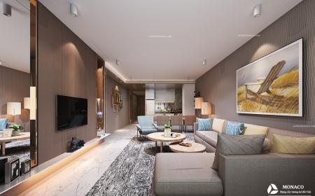 Thiết kế nội thất phòng khách chung cư UDIC WESTLAKE