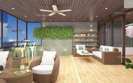thiết kế quán cafe sân thượng - Chị Phương Anh Dịch Vọng